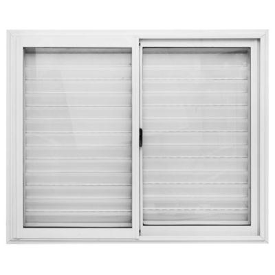Ventana de aluminio blanca con celosía 120 x 100 cm