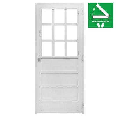 Puerta de chapa simple izquierda