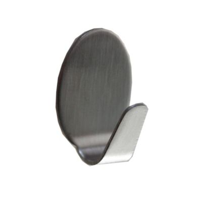 Gancho Autoadhesivo Oval x 4 Unidades Metal