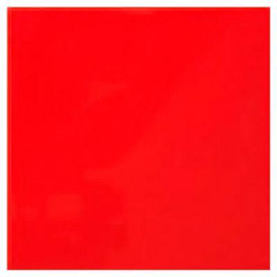 Cerámica 20 x 20 rojo brillo