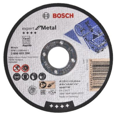 Disco corte de metal acero inoxidable 115 x 1 mm