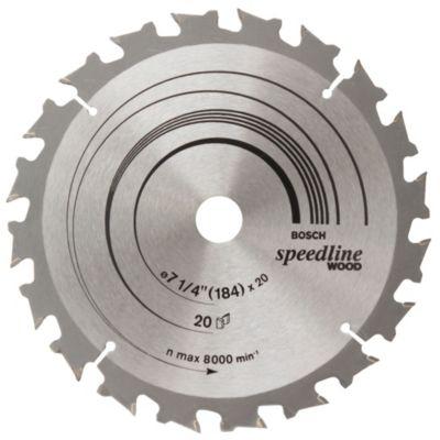 Disco corte circular madera 184mm x20d