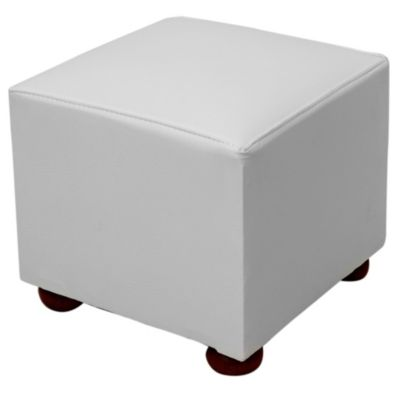 Puff cubo blanco