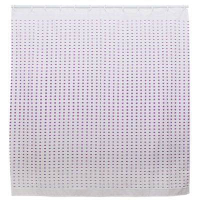 Cortina de baño degradee 180 x 180 cm violeta