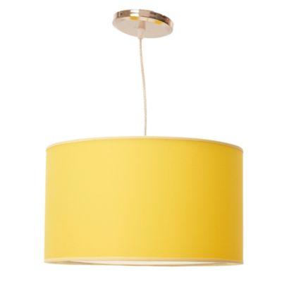 Lámpara de techo colgante Una Luz Amarilla E27
