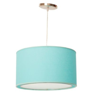 Lámpara de Techo Colgante Una Luz Turquesa E27