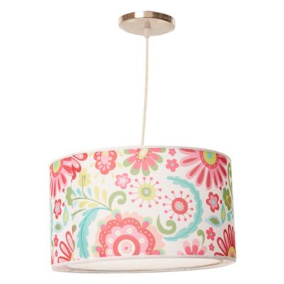 Lámpara de techo colgante Una Luz Flores E27