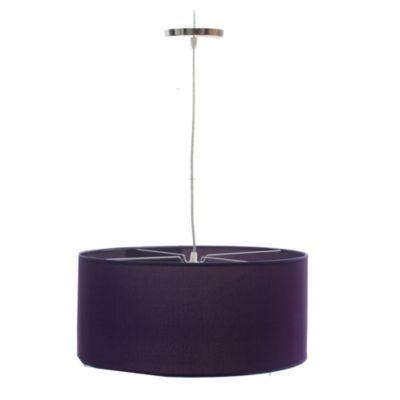 Lámpara de techo colgante una luz redonda lisa violeta e27