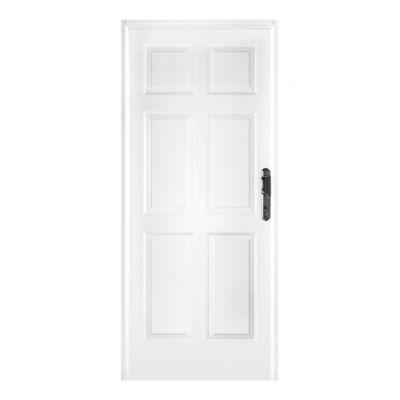 Puerta de chapa blanca doble 80 x 205 cm izquierda