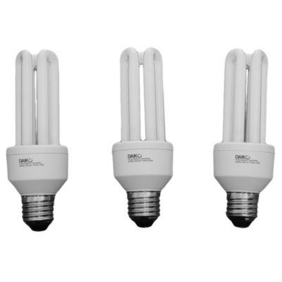 Lámpara tubo 20 w cálida E27 x 3 unidades