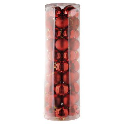 Set 50 esferas 6 cm rojas