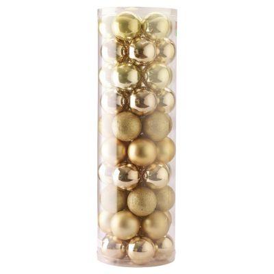 Set 50 esferas 6 cm dorado