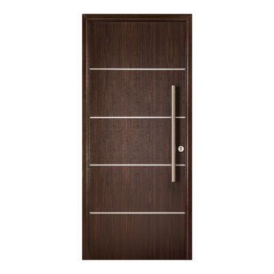 Puerta de madera maciza 90 x 200 cm izquierda wengue
