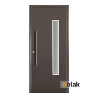 Puerta de acero 80 x 200 cm izquierda grafito