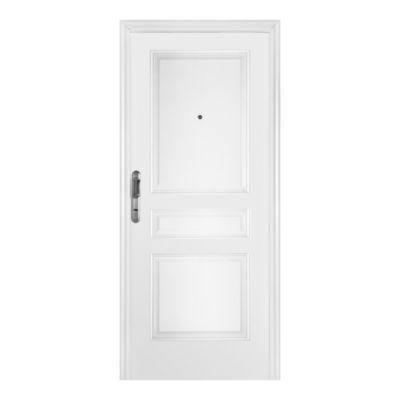Puerta de acero 90 x 200 cm derecha blanca