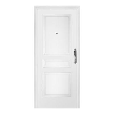 Puerta de acero 90 x 200 cm izquierda blanca