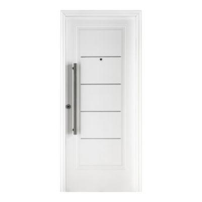 Puerta de acero 80 x 200 cm derecha blanca