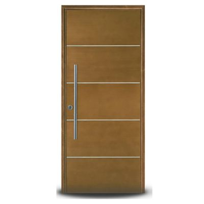Puerta de madera 80 x 200 cm izquierda cedro