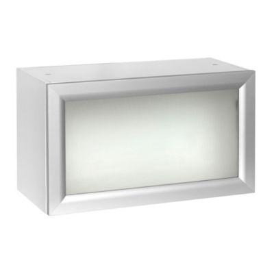 Alacena 60 x 35 cm blanca y gris