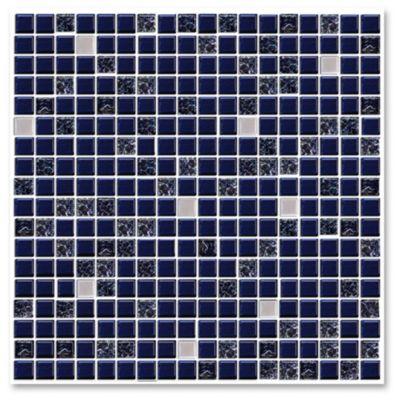 Malla mosaico crac azul