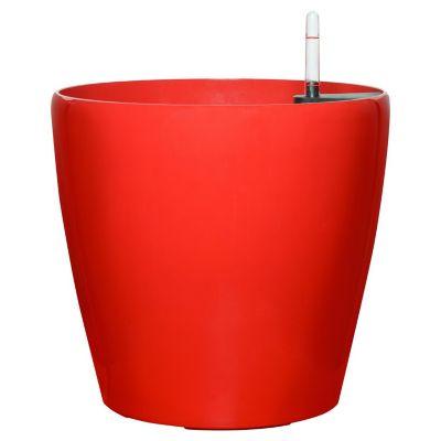 Maceta redonada autoriego rojo 44 x 42 cm