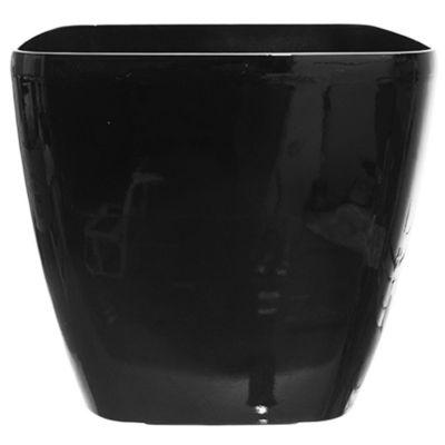 Maceta cuadrada autoriego negra 45 x 42 cm