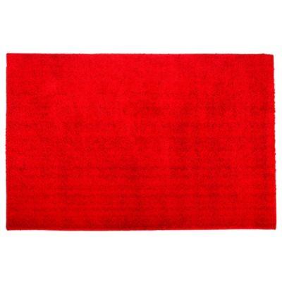 Alfombra angora 100 x 150 cm roja