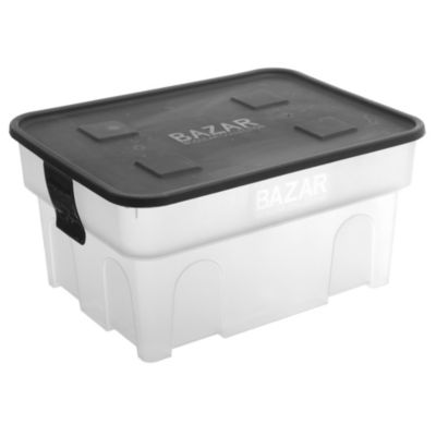 Organizador simple box l 30 transparente