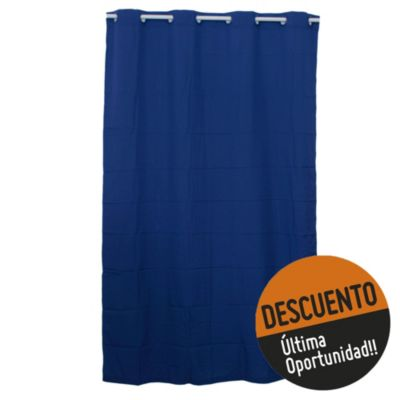 Cortina arg plast azul 140 x 220 cm