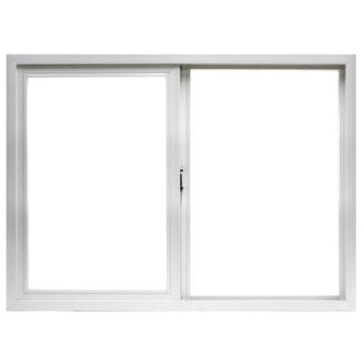 Ventana de PVC corrediza blanca 150 x 60 x 9 cm...