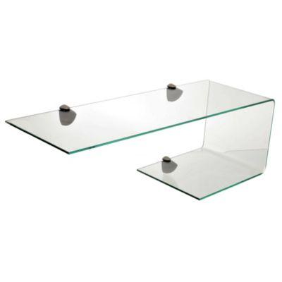 Estante de vidrio templado mediano 60 x 15 x 0,6 cm