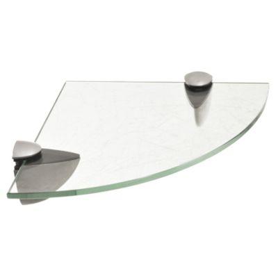 Estante de vidrio templado esquinero 40 x 10 x 0,6 cm