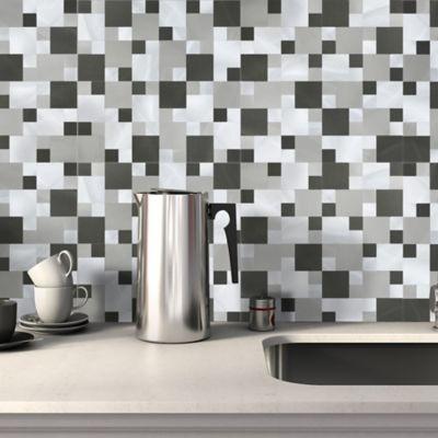Mosaico sater aluminio gray