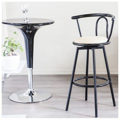 Silla para bar giratoria negra for Sillas ergonomicas sodimac