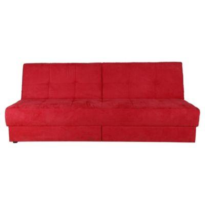 Futón con cajón 200 x 85 x 84 cm rojo