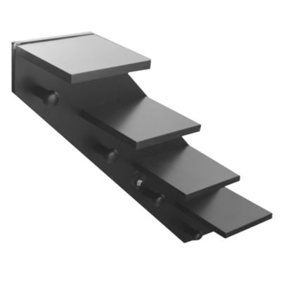 Estante escalera negro 71 x 17 x 56 cm