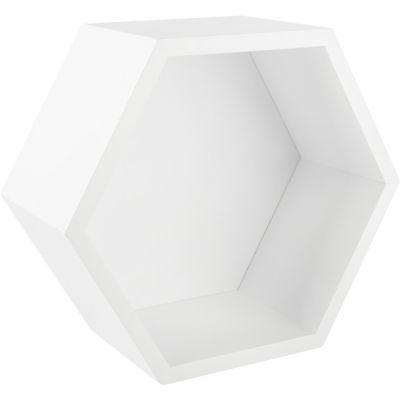 Estantería hexagonal 27 x 23, 4 x 12 cm blanco