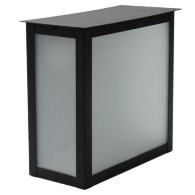 Farol para pared 2 luces oriental negro