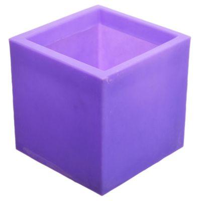 Maceta cubo violeta 20 x 20 cm