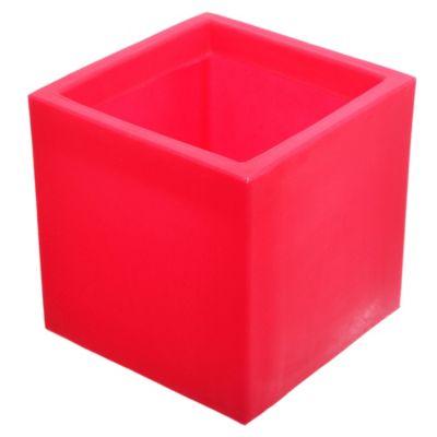Maceta cubo rojo 20 x 20 cm