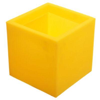 Maceta cubo amarillo 20 x 20 cm