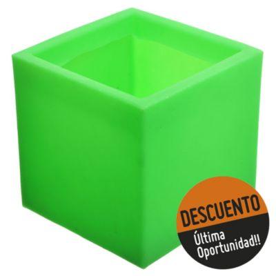 Maceta cubo verde 20 x 20 cm