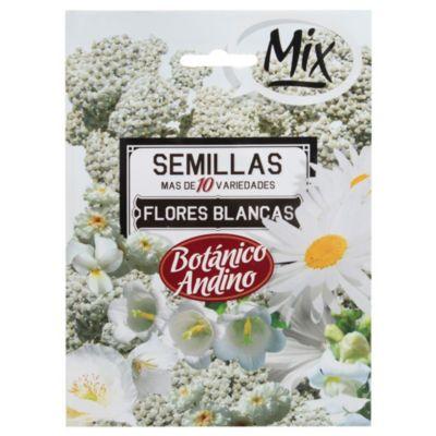 Semillas flores mezcla blanca
