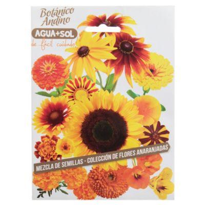 Semillas flores mezcla naranja