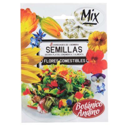 Semillas para huerta flores comestibles