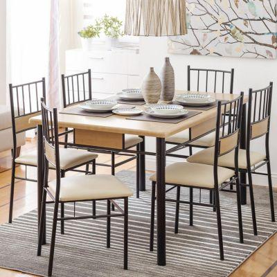 Set comedor asunci n mesa 6 sillas for Sillas ergonomicas sodimac
