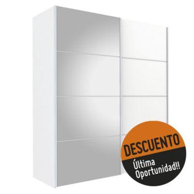 Placard 182 x 201 x 64 cm blanco
