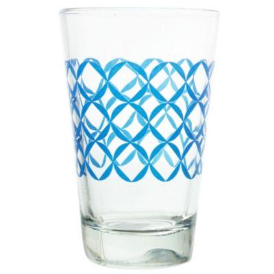 Vaso azul círculos