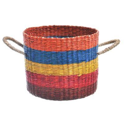 Canasto rayado 5 colores 25 x 20 cm