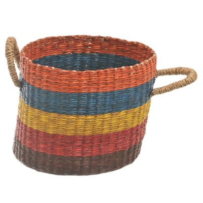 Canasto rayado 5 colores 20 x 15 cm
